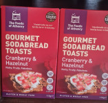 The Foods of Athenry - Cranberry and hazelnut gourmet sodabread crackers