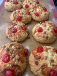 Cherry and White Chocolate Scone
