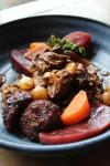 Ready Meal: Braised Boneless Beef Ribs ala Ballybeen, Stout Sauce, Cheddar Dumpling