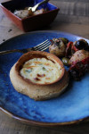 Ready Meal: Goats Cheese and Red Pepper Tart, Lisbon Potatoes